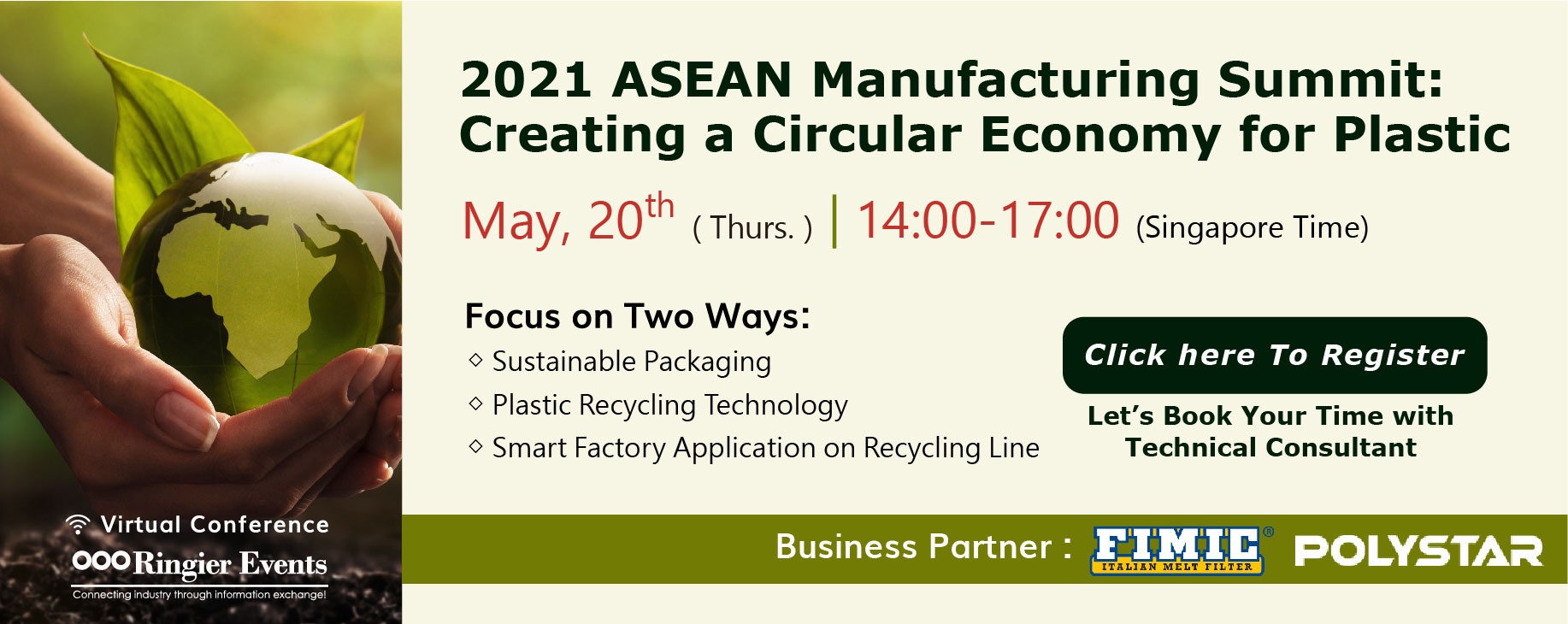 Virtual ASEAN Manufacturing Summit 2021: Creating a Circular Economy for Plastic