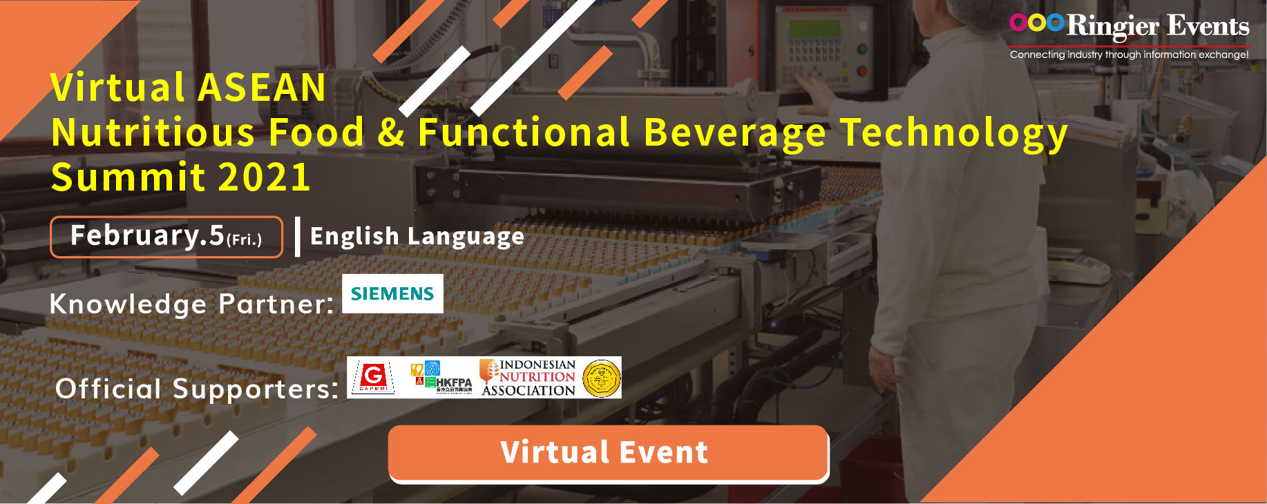 Virtual ASEAN Nutritious Food & Functional Beverage Technology Summit 2021