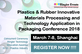 Plastics & Rubber Innovative Materials Processing and Technology Application in Packaging Conference 2018